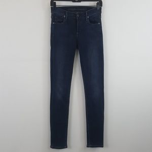 Citizens of Humanity blue slick skinny leg jean 28